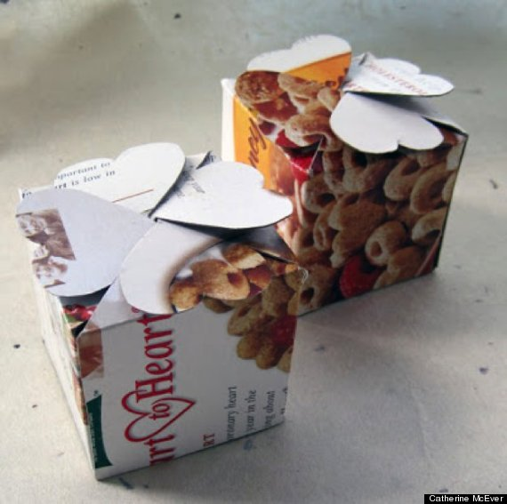 cereal box gift wrap