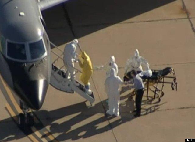 hombre sin proteccion ebola
