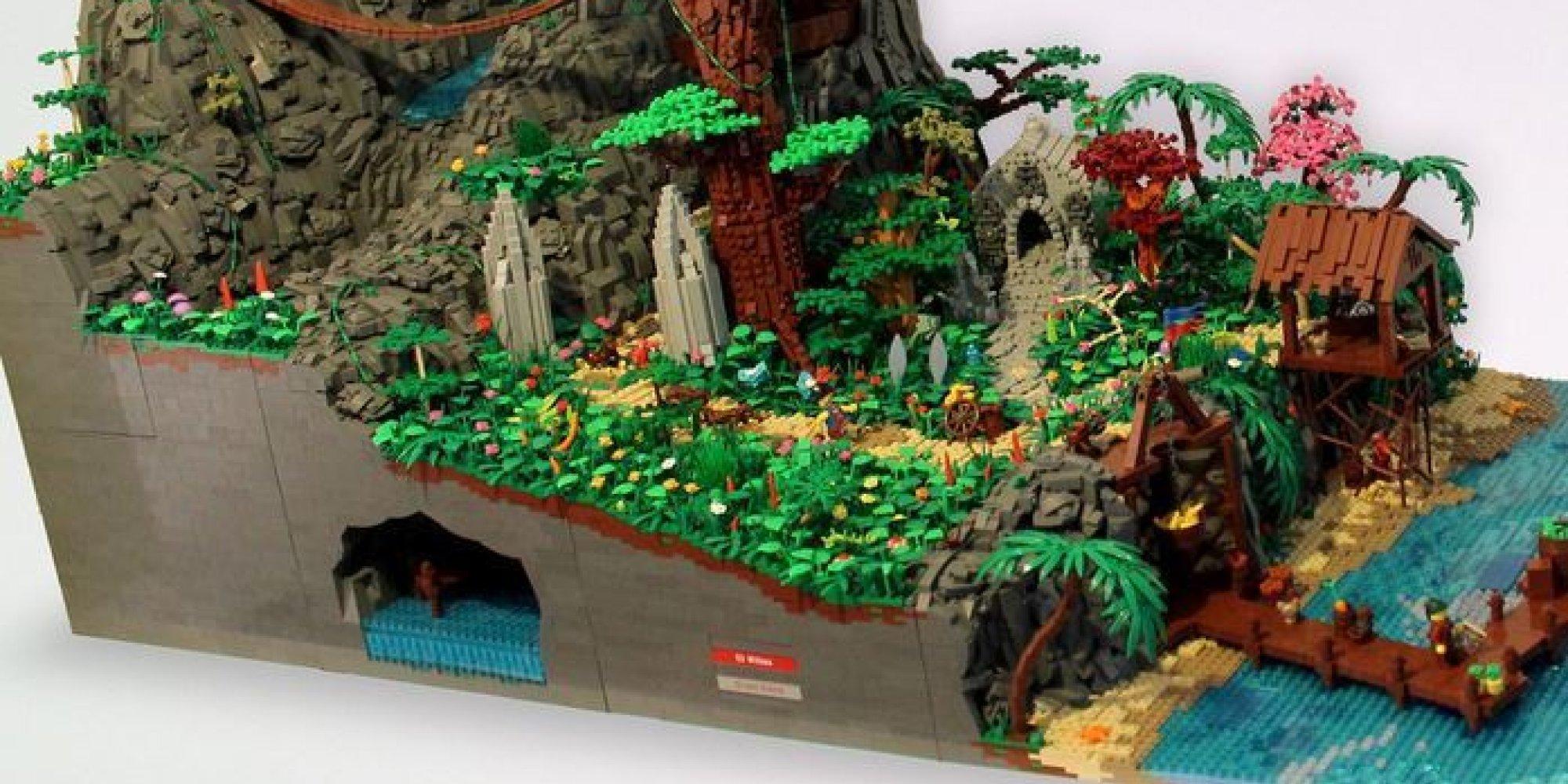 VIDO Une Immense Le De Pirates En Lego Avec Sa Cascade