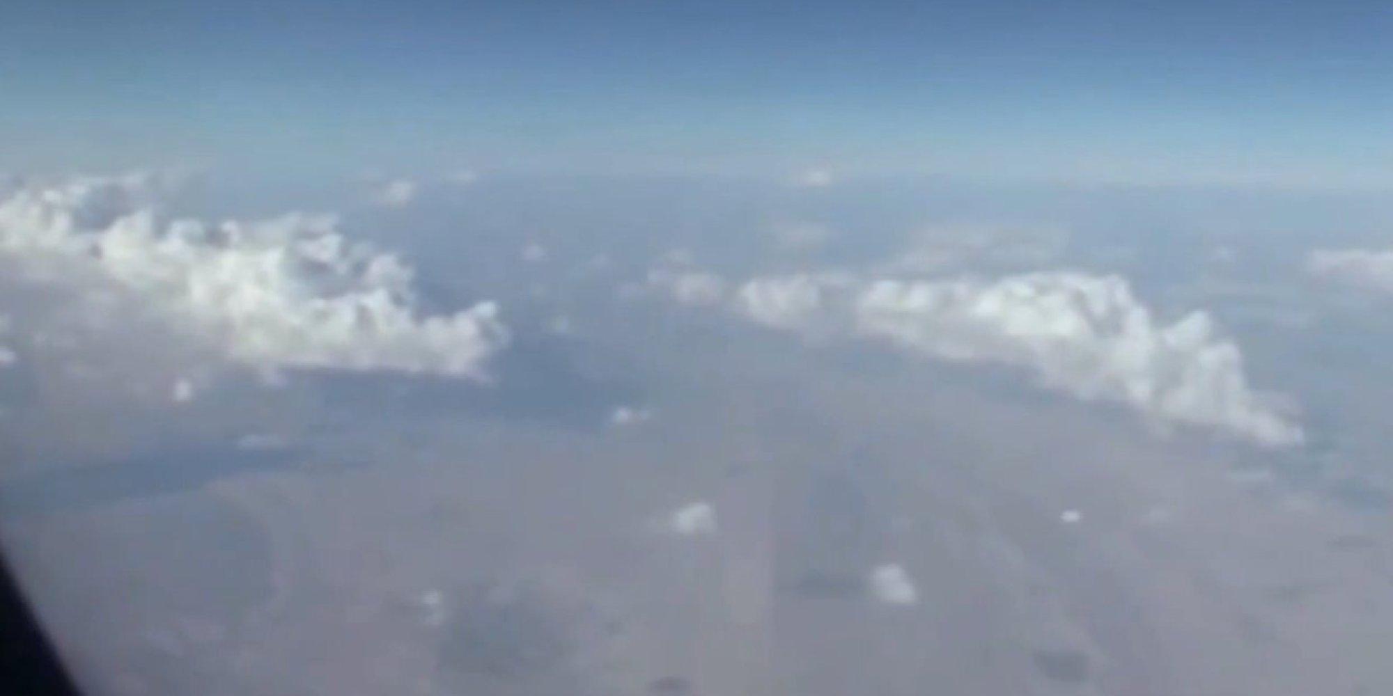 Airline Passenger Films UFO Flying Over Iran