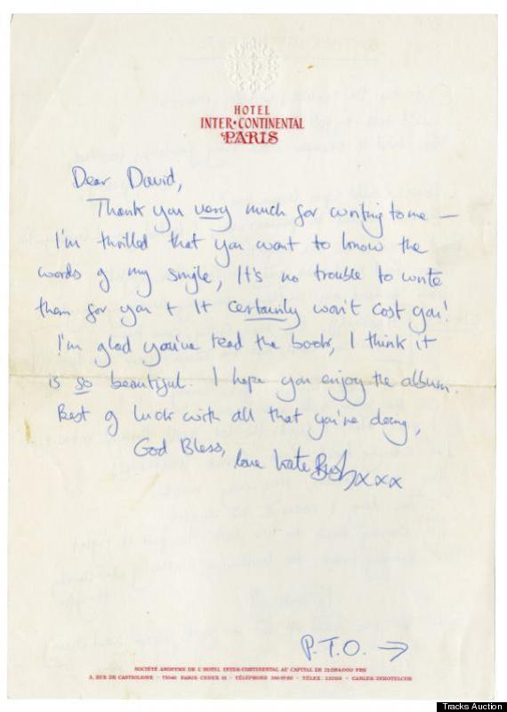 Kate Bush Sent This Handwritten Letter And Wuthering