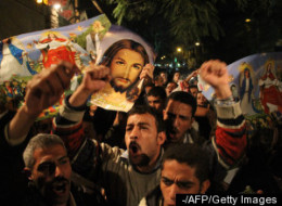 Muslims form a human shield around various Coptic churches during Coptic Christmas eve mass services around the country and at candle light vigils held outside, offering their bodies and their lives as protection while Coptic Christians worship inside.