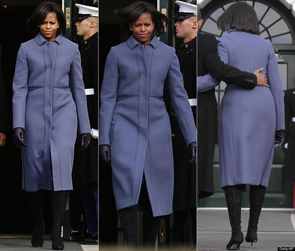 Michelle Obama Picks Purple For Winter Wear PHOTOS POLL