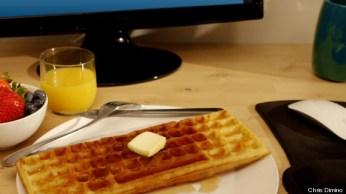 keyboard shaped waffle