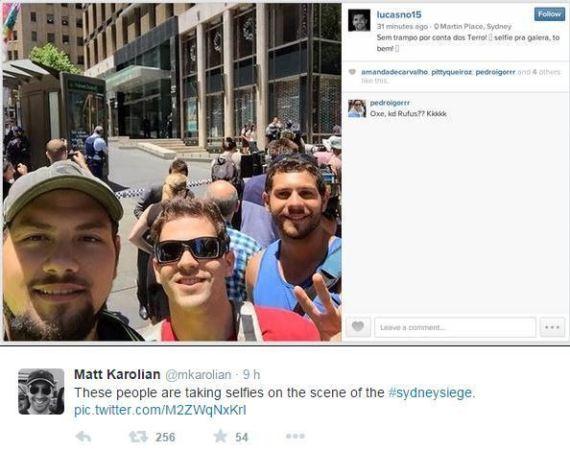 selfie sydney groupe otage