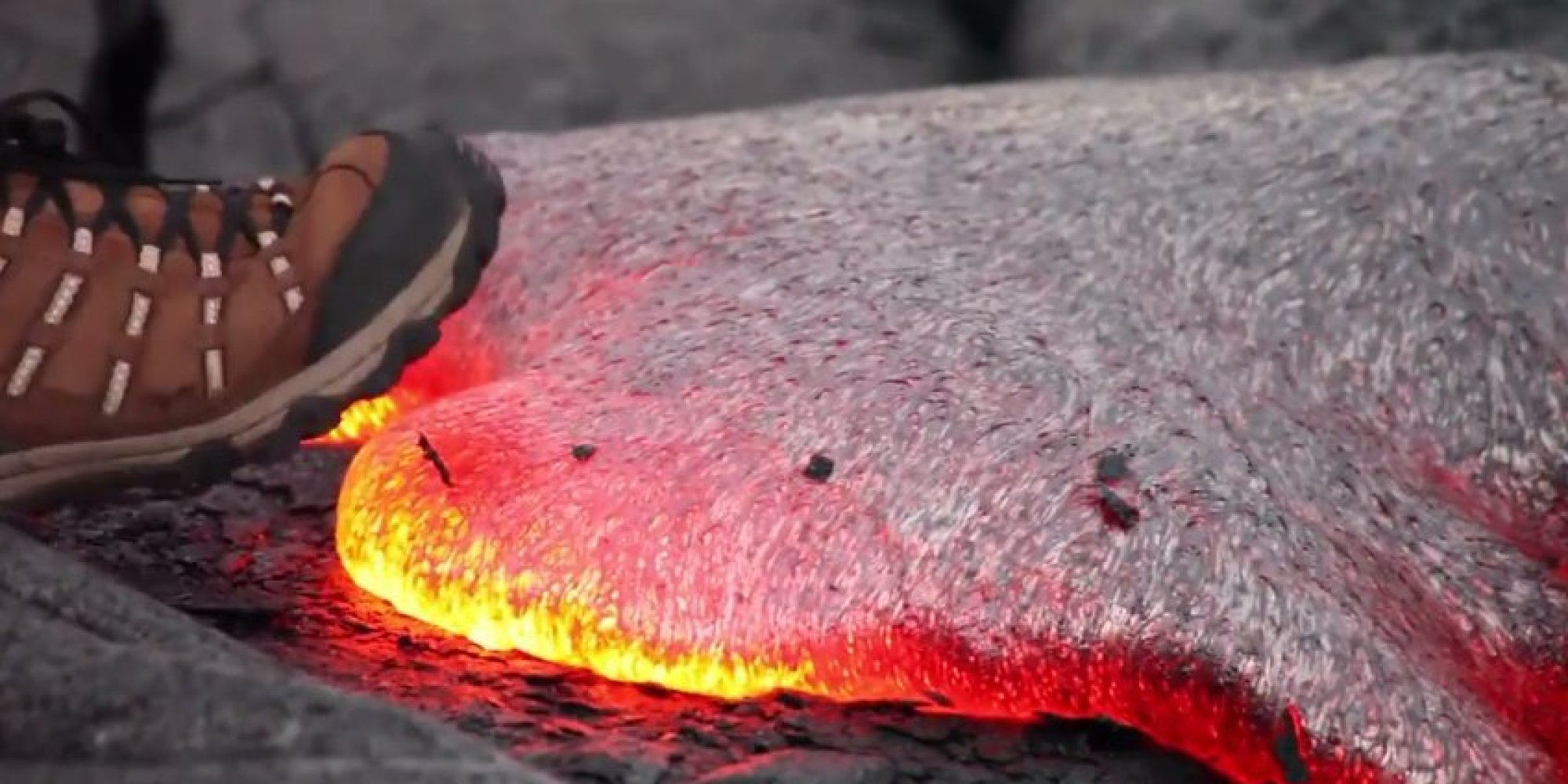 This Is What Happens When You Step On Molten Lava  HuffPost