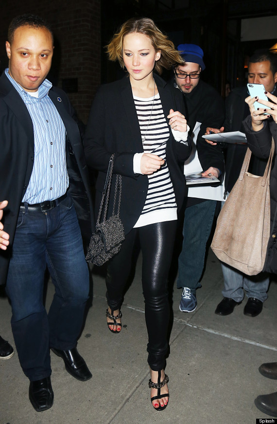 Jennifer Lawrence Heads Out In Leather Pants  HuffPost