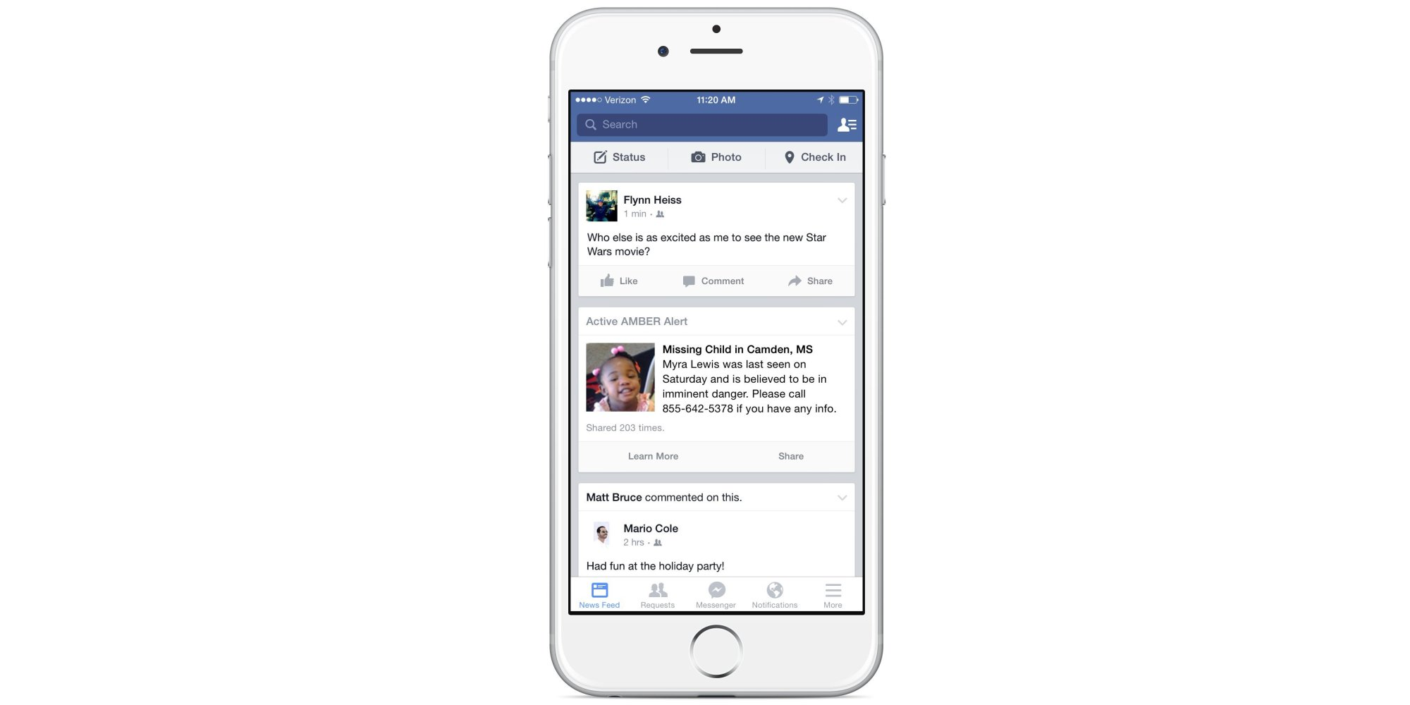 Facebook Will Now Share Amber Alerts On Your News Feed