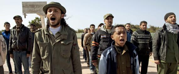 Guerra civil na Líbia (http://i.huffpost.com)