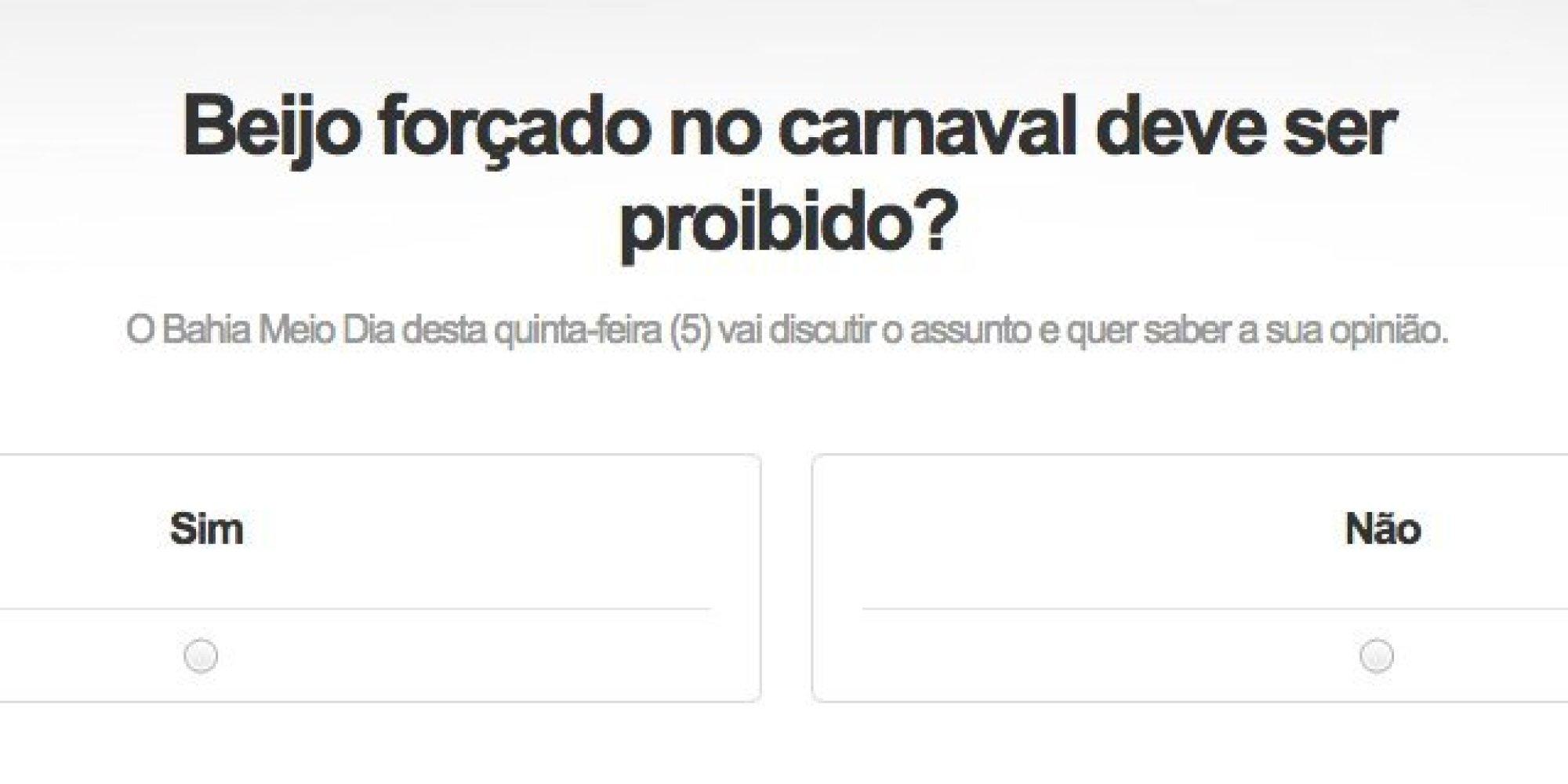 Beijo forçado no Carnaval é proibido, e enquetes sobre