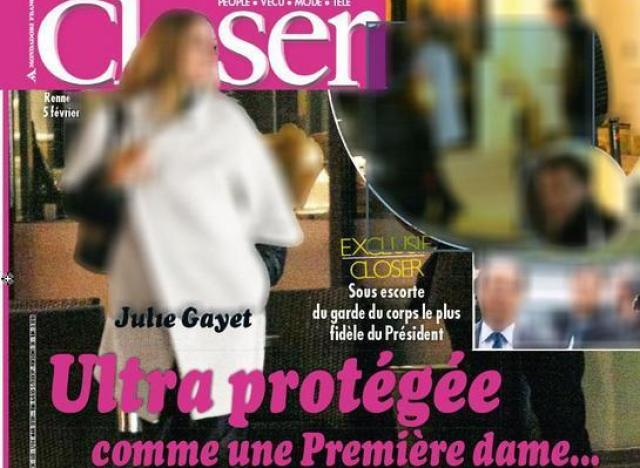 Like it or not, Julie Gayet is the natural extension of François Hollande, even if it appears there is no official link.