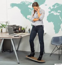 The Desk Chair Of The Future Is Not A Chair At All | HuffPost