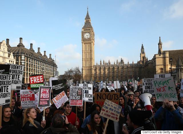 free education demo london
