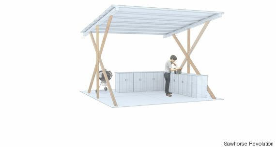sawhorse revolution cooking space