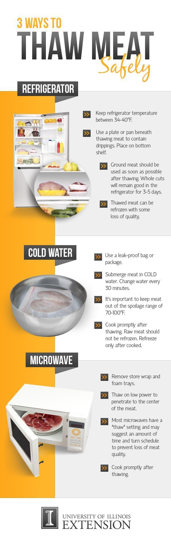 The Safest Way To Defrost Meat And Poultry In One Easy ...