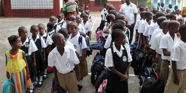 Liberian Schools Affected Ebola Receive 700 000