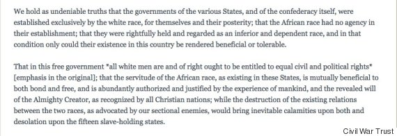 texas secession statement