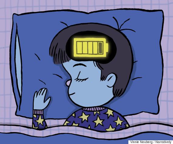 Huffington Post illustration of sleeping kid
