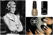 chanel inspired nail art diy