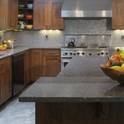 Kitchen Counter Options Copper Door Handles Five Green Countertops Huffpost Life Countertop Option 2 Created Out Of Recycled Glass And Concrete Icestone Durable Surfaces Are Built In A Brooklyn Ny Factory