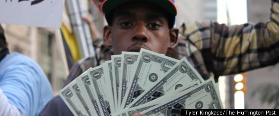 Dollar Bills Protester