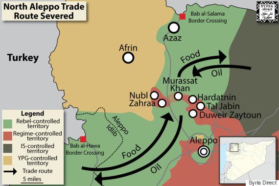 north aleppo map