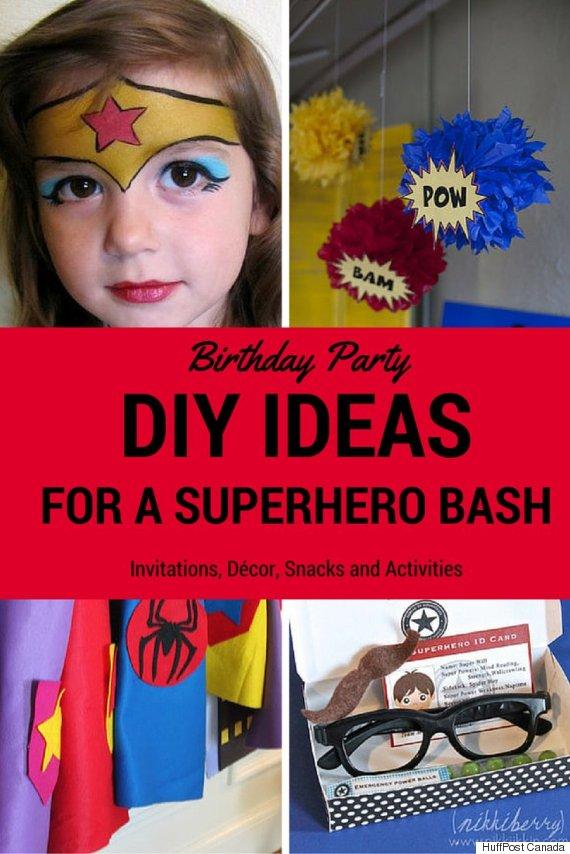 Superhero Birthday Party: DIY Ideas For A Marvel