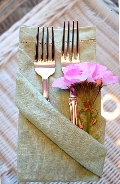napkin folding three pocket