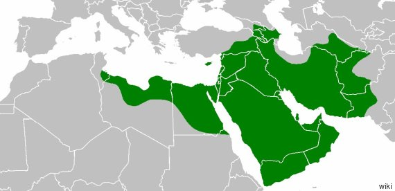 rashidun caliphate map
