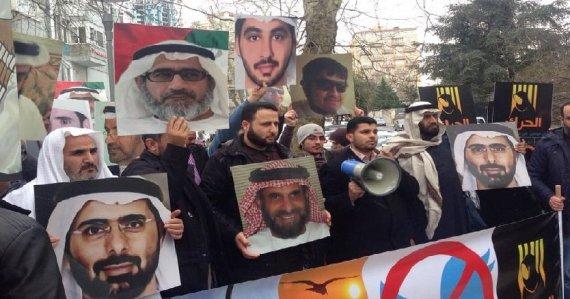 emirati detainees protest
