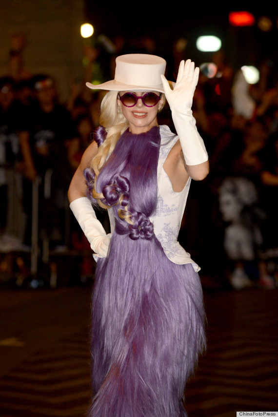 Lady Gaga Wears A Wig As A Dress For Born This Way Ball Tour 2012 PHOTOS  HuffPost