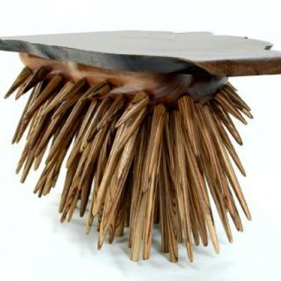 Custommade Curator A Unique 'porcupine' Table (photos