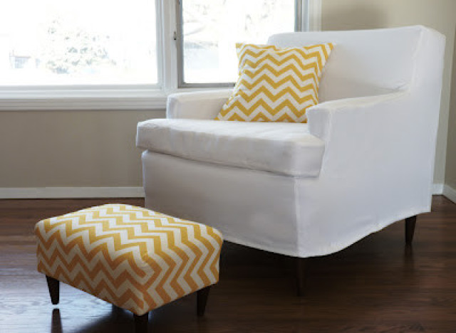 how to make slipcover for wingback chair wedding covers scunthorpe diy idea: an easy tailored any piece of furniture | huffpost
