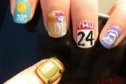 diy nail art iphone app-inspired
