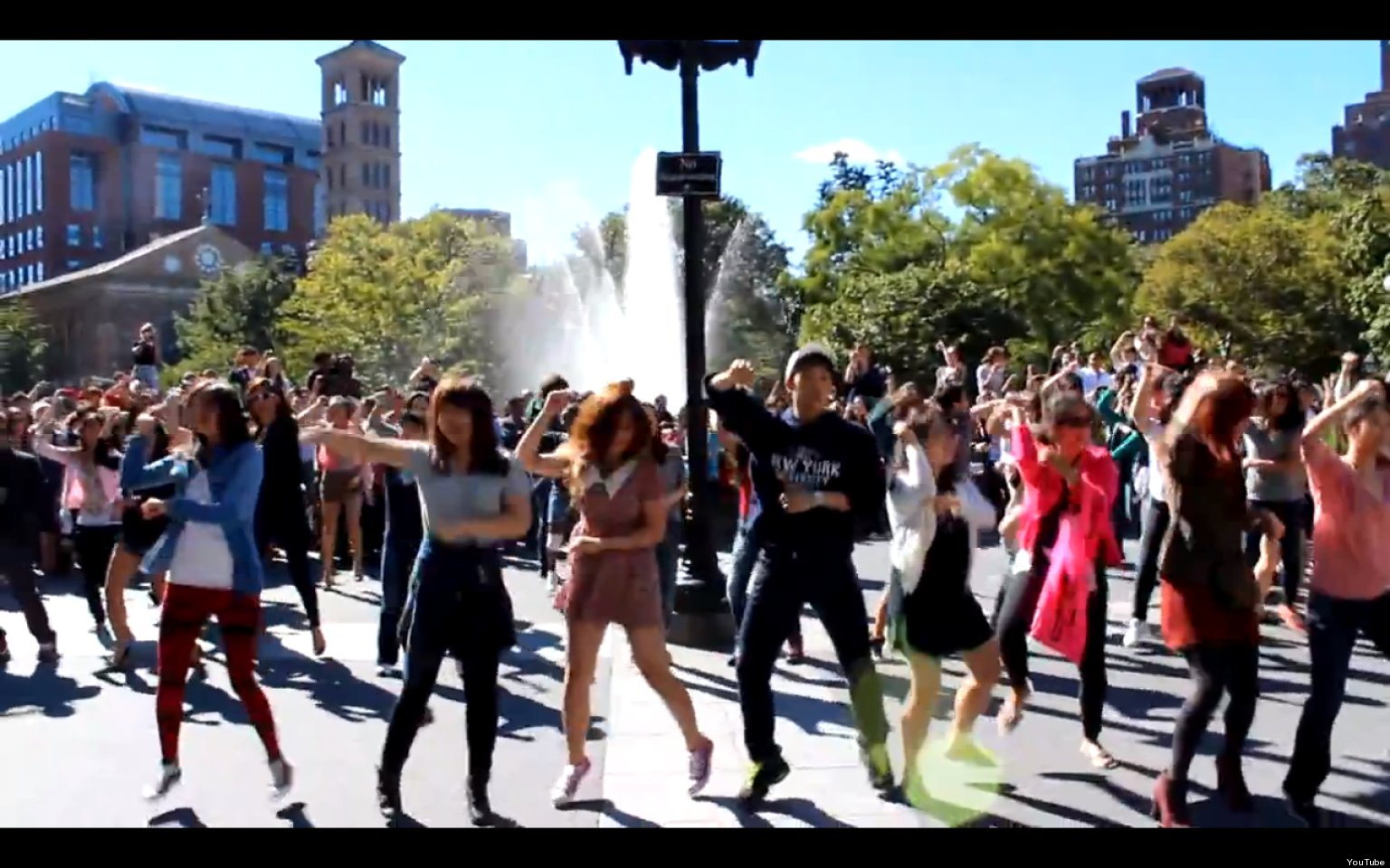 Gangnam Style Flash Mob Surprises Washington Square Park