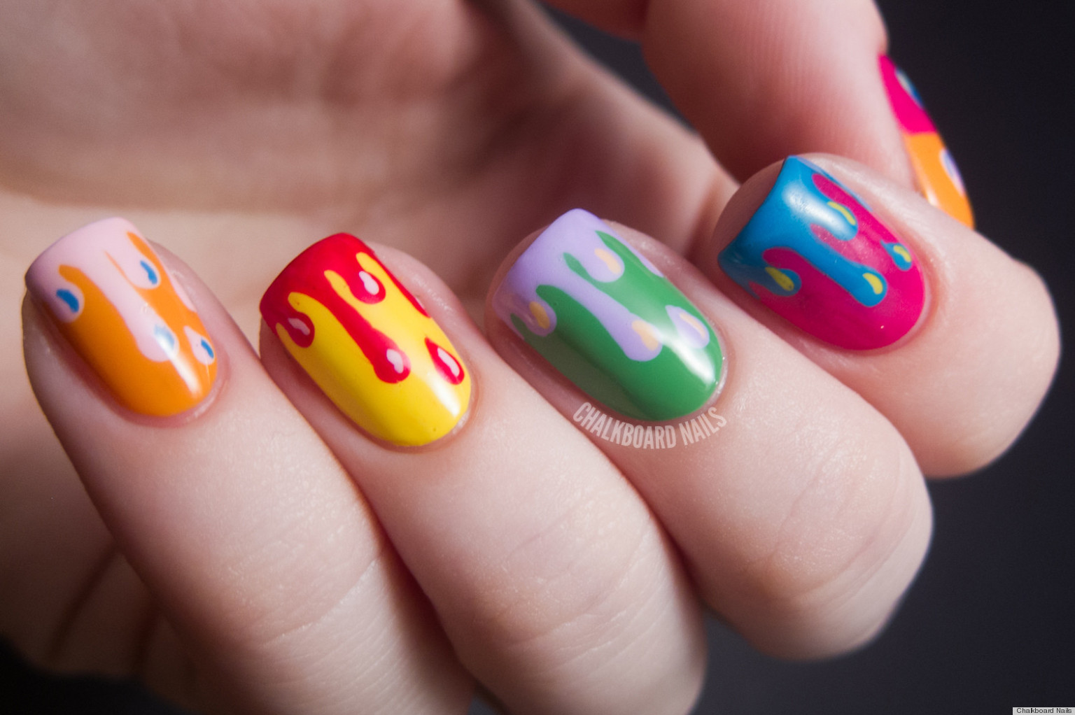 DIY Nail Ideas: Paint Drip Nail Art And More Of Our