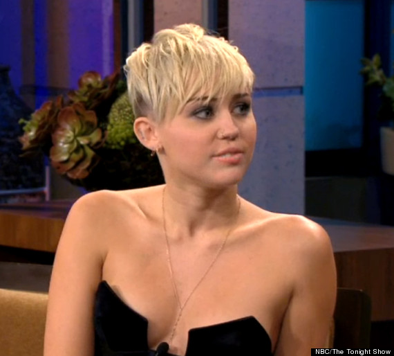 Miley Cyrus Cleavage Baring Top Teen Star Risks Having A