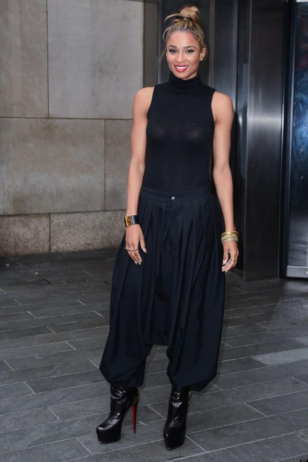 Ciara Steps In Harem Pants And Sheer Top Yea Nay