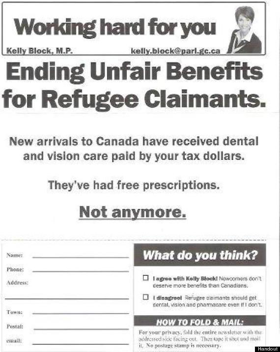 """Ending Unfair Benefits for Refugee Claimants. New arrivals to Canada have received dental and vision care paid for by your tax dollars. NOT ANYMORE"""