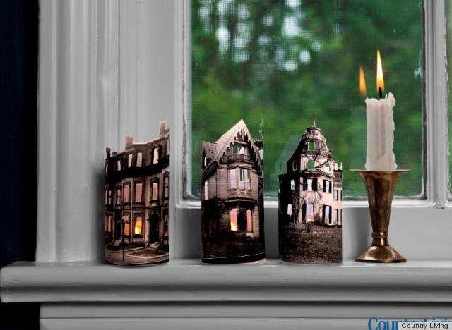 Halloween Decorations Mini Ghost Town Candles From