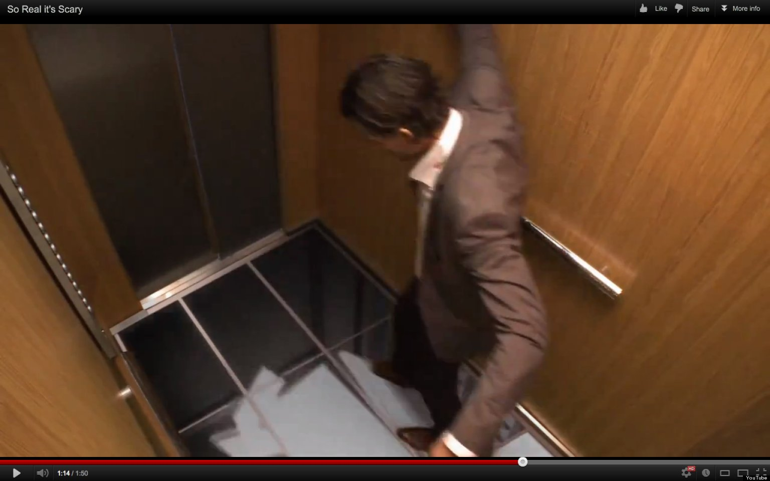 LG Pranks Elevator Riders Makes It Seem Theyre About To