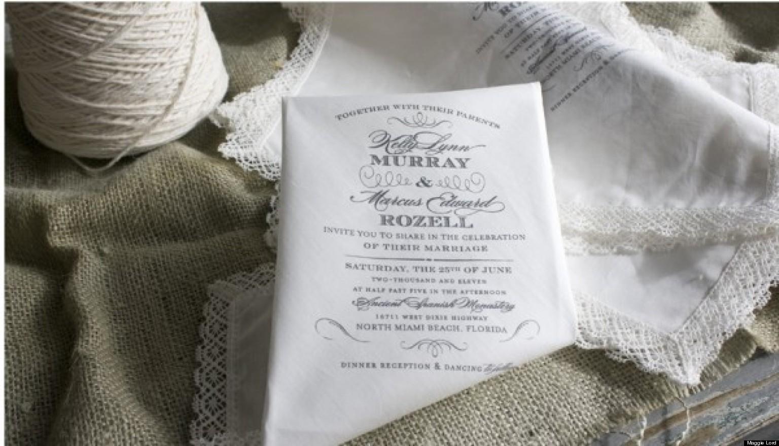 high end wedding invitations. white monogram embroidered silk box, Wedding invitations
