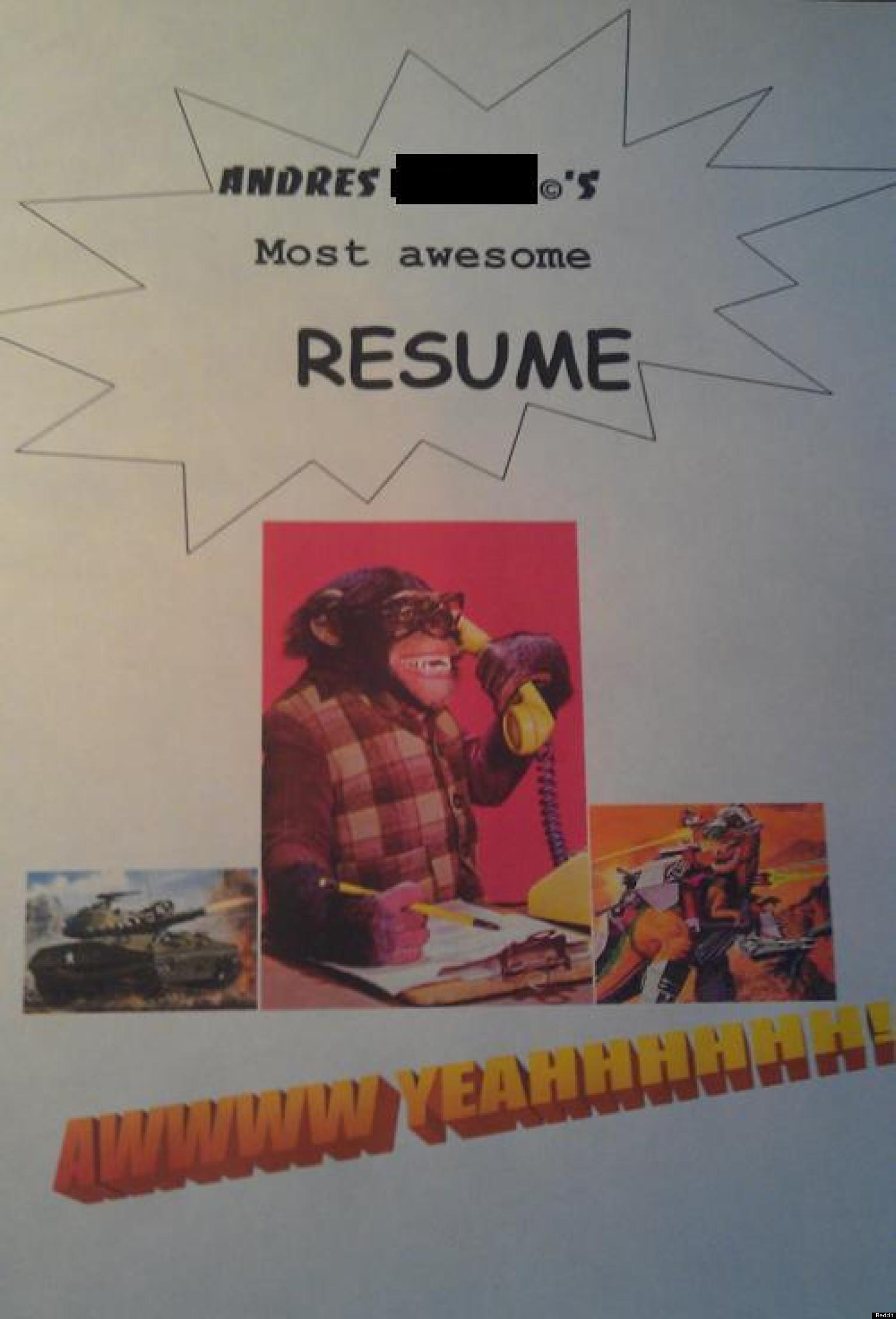 21 Funny Resums  Cover Letters PHOTOS