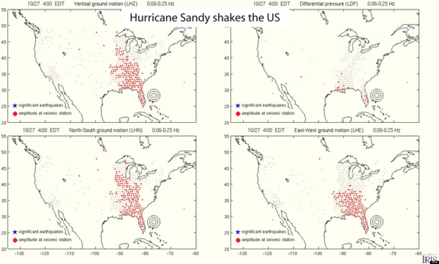 Hurricane Sandy Caused Seismic Waves To Shake U S Like An
