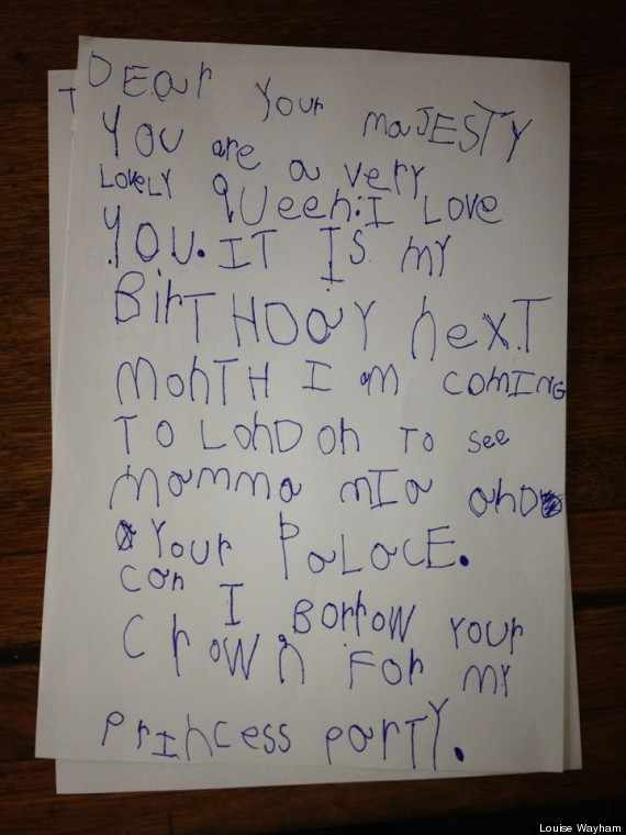 Cute Kid Note Of The Day A Letter To The Queen HuffPost