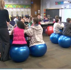 Exercise Ball Office Chair Size Covers Wholesale Sara Wright Indiana Teacher Swaps Balls For