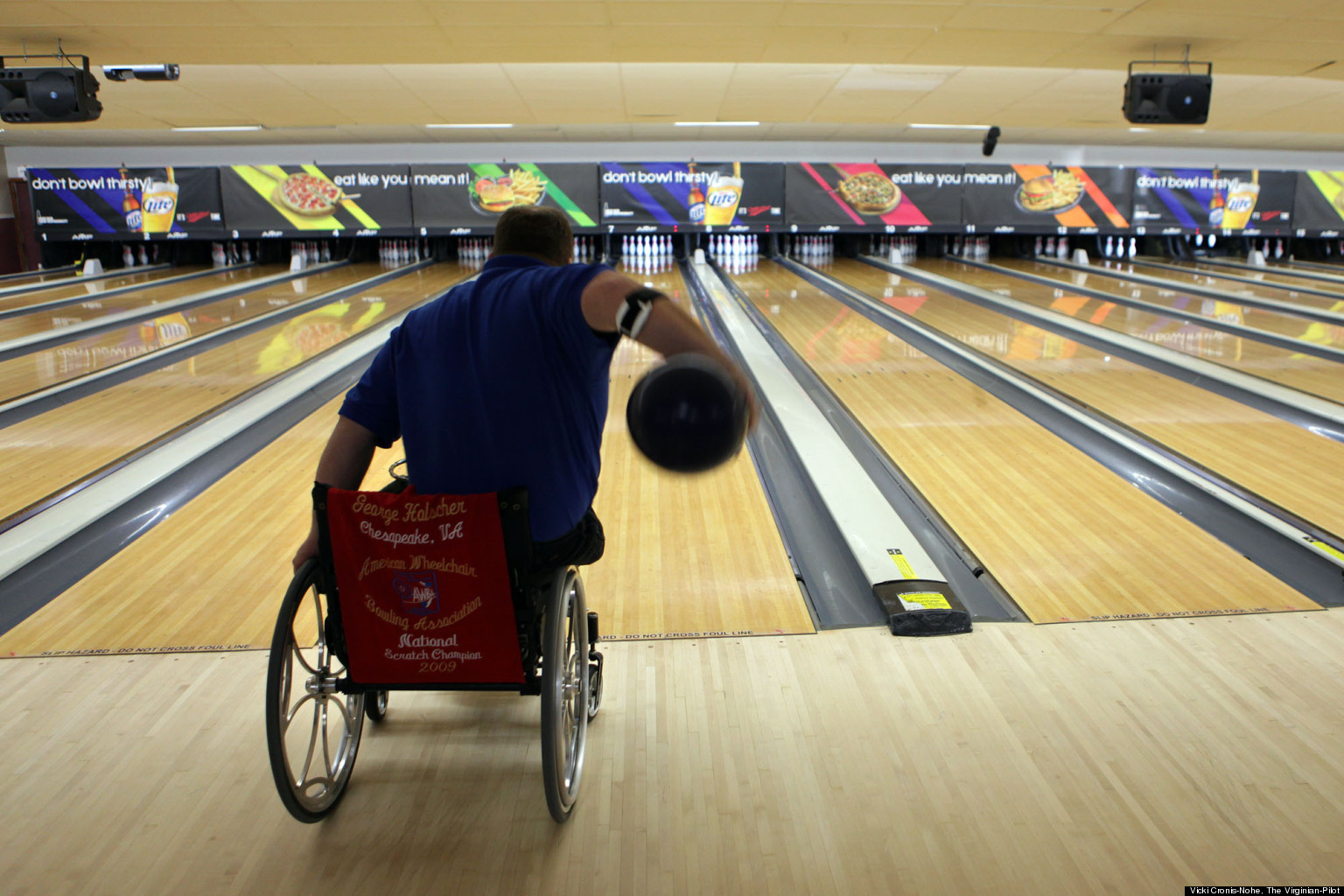 chair ball game ergonomic under 200 george holscher man who uses wheelchair bowls perfect