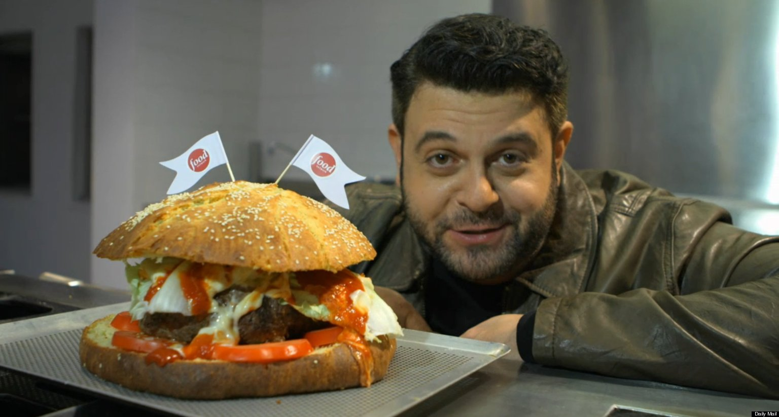 Adam Richman Offers Food Challenge Tips To Journalists Eating 5-Pound Burger (VIDEO)   HuffPost