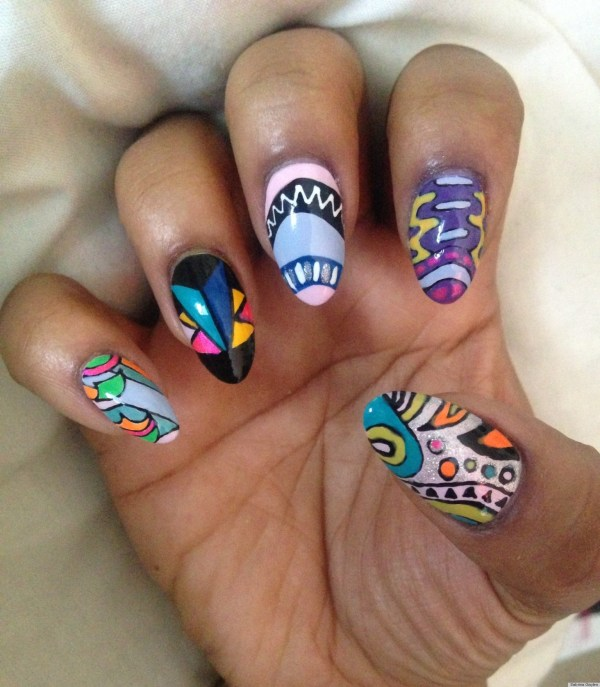 Christmas Diy Nail Ideas And Of Manicures Weekend Huffpost