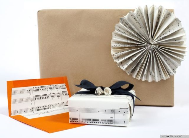 A Gift Wrapping Idea Using Sheet Music Thats As Simple As